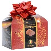 Belgické lanýže s náplní s příchutí champagne