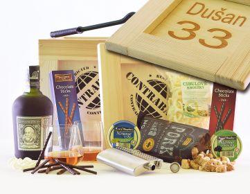 Dárková bedna pro muže Diplomático Reserva Exclusiva Contraband dárek pro rumaře bedna s páčidlem