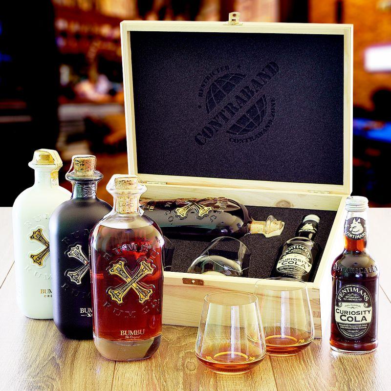 Dárková sada s rumem Bumbu originální dárek pro muže