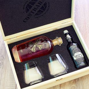 Dárkový koš pro muže s rumem Bumbu dárek pro pořádného chlapa