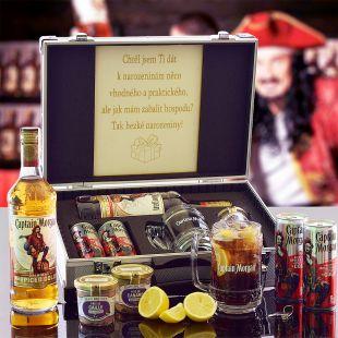 Captain Morgan AL Kufr Contraband originální dárek pro muže