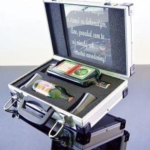 Dárkový koš Jägermeister AL Kufr Contraband dárek pro muže