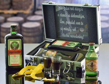 Dárkový hliníkový kufr Jägermeister CONTRABAND Dárek pro muže