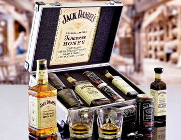 Dárkový hliníkový kufr Jack Daniel's Honey CONTRABAND Dárek pro muže