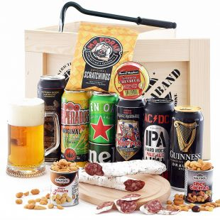 Dárková bedna s páčidlem Pivní Contraband originální dárek pro muže