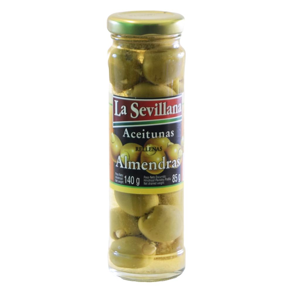 La Sevillana Green Olives - Zelené olivy s mandlí