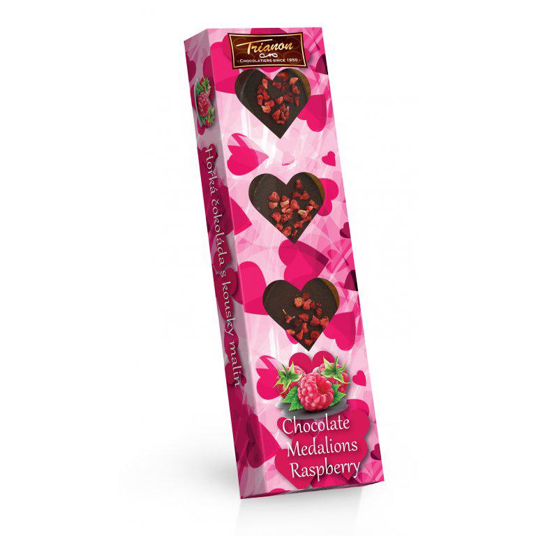 Čokoládové medailonky malina